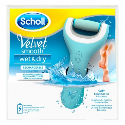 Bruska na paty Scholl Velvet Smooth Wet&Dry