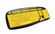 C-TECH KB-103MS, černá/žlutá, CZ/SK KB-103MS