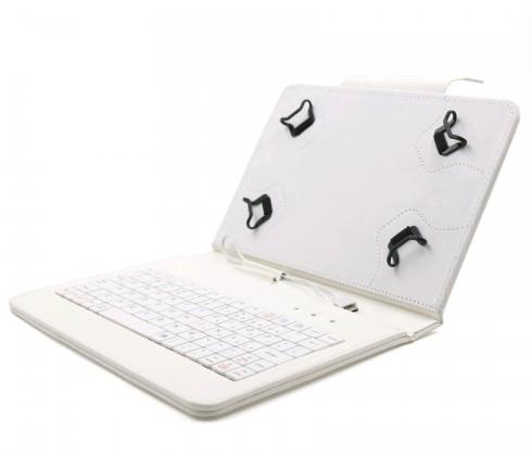 """C-TECH PROTECT pouzdro s klávesnicí 7""""-7,85"""" NUTKC-01, bílé"""