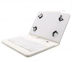 """C-TECH PROTECT pouzdro s klávesnicí 8"""" NUTKC-02, bílé"""