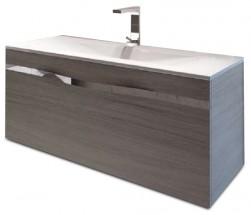 Caen - Skříňka s umyvadlem 100 cm, 2 zásuvky (dub)