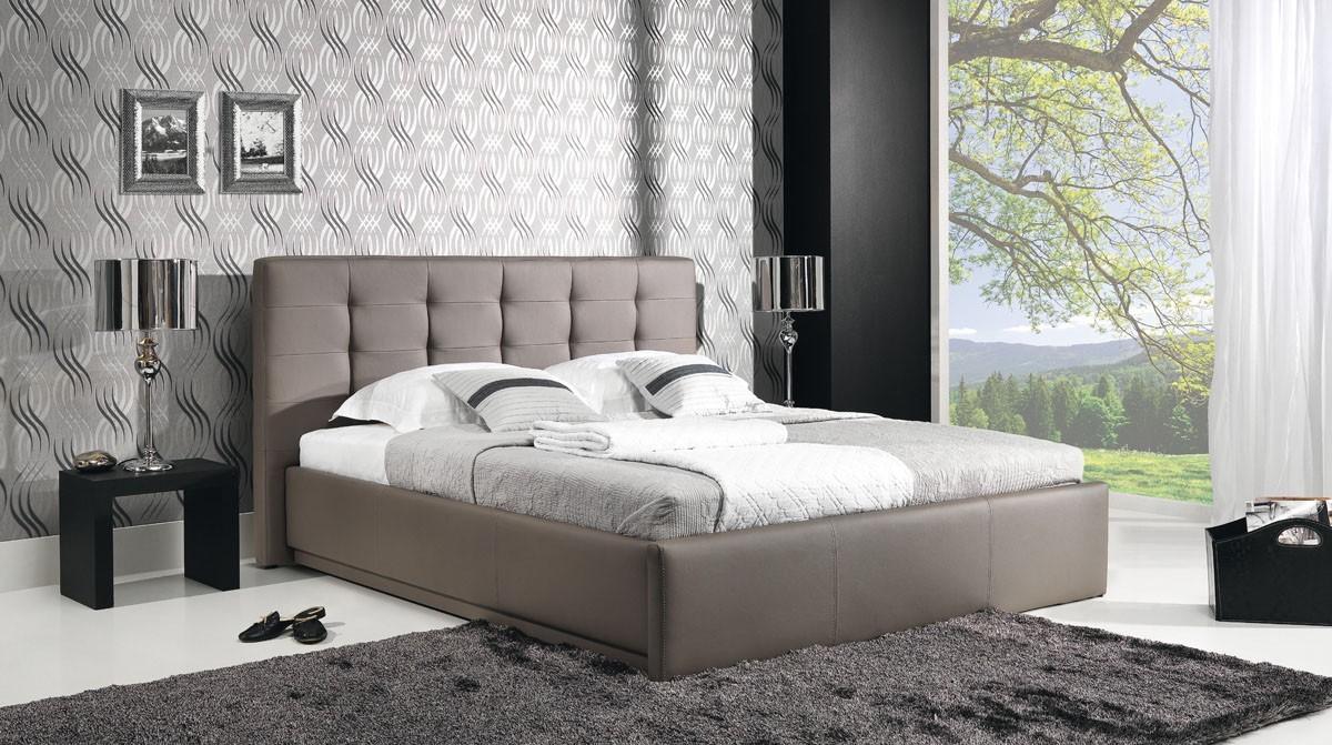 Čalouněná Avalon - Rám postele 200x160, s roštem a úložným prostorem
