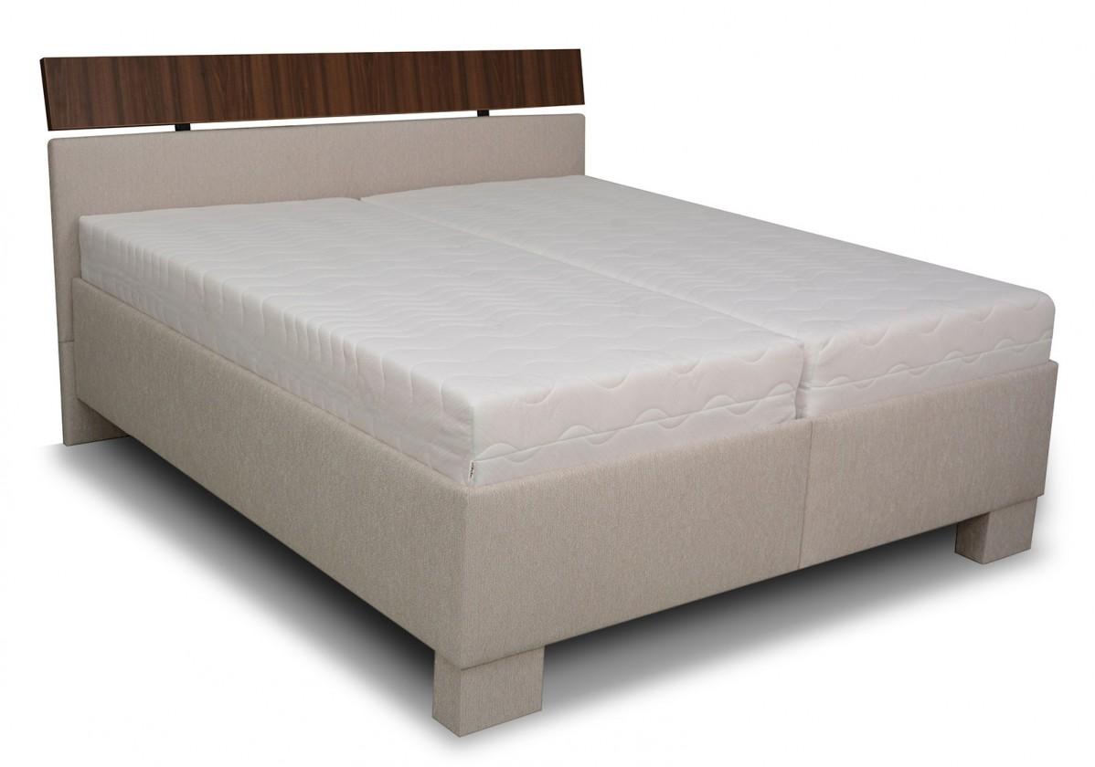Čalouněná Čalouněná postel Antares - 180x200 (grotli 1/ořech 0729)