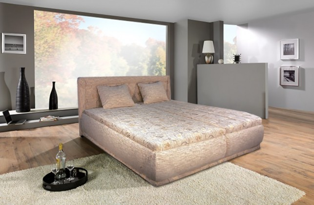 Čalouněná Čalouněná postel Harmonie 180x200,béžová,vč. matrace,roštu a úp