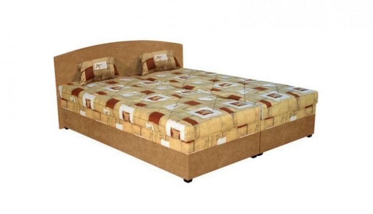 Čalouněná Čalouněná postel Kappa 160x200 cm, oranžová, s úložným prostorem