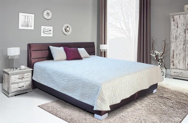 Čalouněná Čalouněná postel Vernon 180x200 cm, fialová, s úložným prostorem