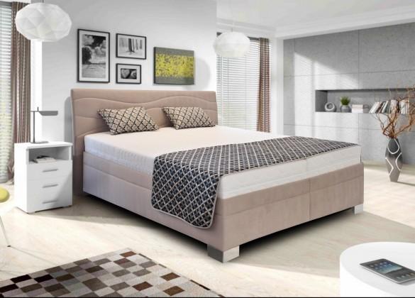 Čalouněná Čalouněná postel Windsor - 180x200, rošt, matrace (béžová)