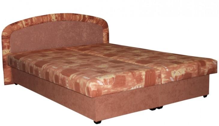 Čalouněná Čalouněná postel Zofie 160x200 cm, oranžová, vč. matrace a úp