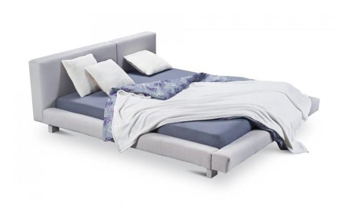 Čalouněná Cubito - rám postele, rošt, 2x matrace (200x200)