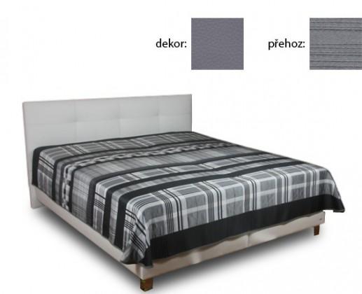 Čalouněná Delores 160x200(matheo 4 - šedá ekokůže,Stylo)