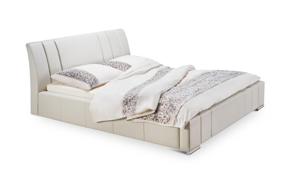 Čalouněná Diano - rám postele, rošt, 2x matrace, úložný prostor (200x200)