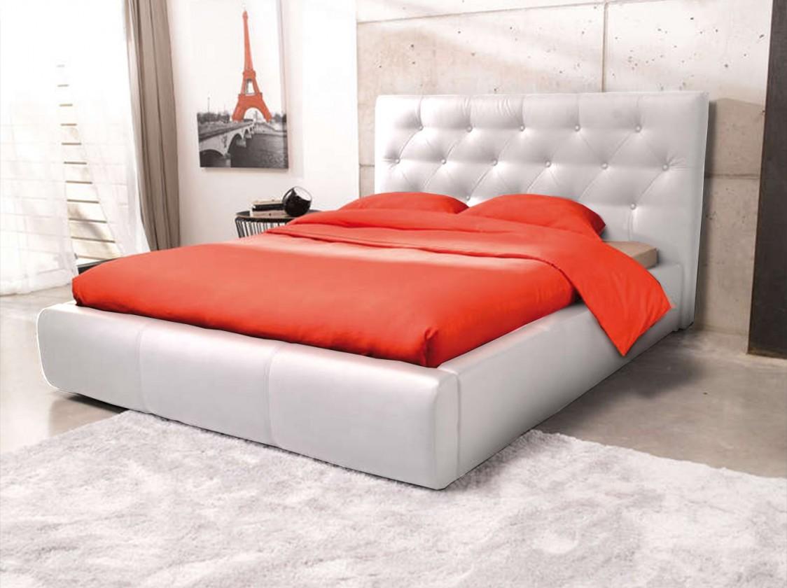 Čalouněná Jasmine - rám postele 200x180 (eko kůže)