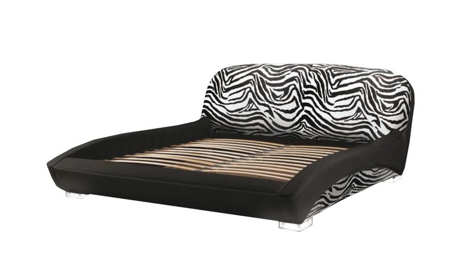 Čalouněná LUX ANIMAL (black - zebra led legs, sk. I)