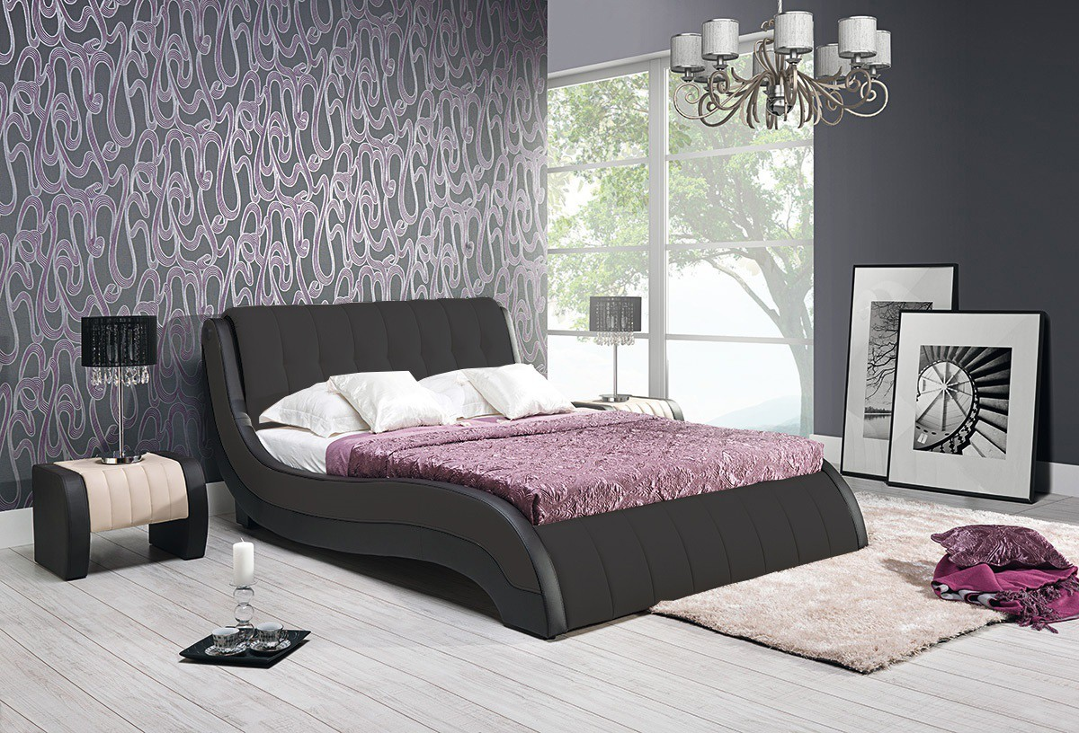 Čalouněná Nicol II - Rám postele 200x160, s roštem a úložným prostorem