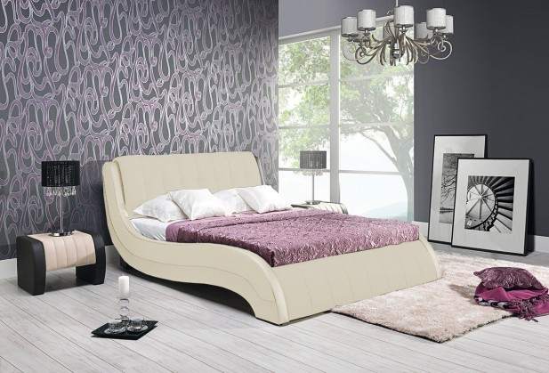 Čalouněná Nicol II - Rám postele 200x180, s roštem a úložným prostorem