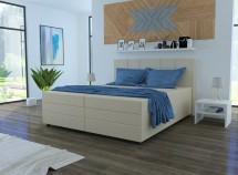 Čalouněná postel Alexa 180x200, vč. matrace a úp, béžová