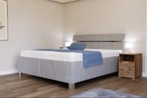 Čalouněná postel Anne 180x200, šedá, vč. matrace, pol. roštu, ÚP