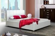 Čalouněná postel Boa Vista 140x200, bílá, bez roštu a matrace