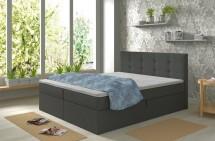 Čalouněná postel Carrie 180x200,tmavě šedá,vč.matrace,topperu,ÚP