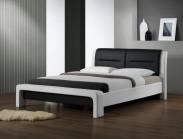 Čalouněná postel Cassandra - 160x200, rám, rošt (bílo-černá)