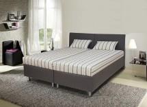Čalouněná postel Colorado 180x200, šedá, vč. matrace, roštu a úp