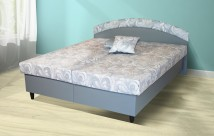 Čalouněná postel Corveta 180x200, šedá, vč. matrace - II. jakost