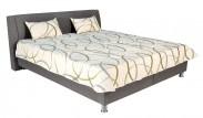 Čalouněná postel Discovery 160x200 cm, šedá, s úložným prostorem