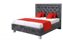 Čalouněná postel Elizabeth 180x200, šedá, vč. mat., pol.roštu,ÚP
