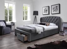 Čalouněná postel Etienne 160x200, šedá, včetně roštu a ÚP