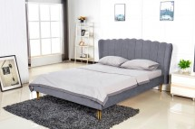 Čalouněná postel Florence 160x200, šedá, včetně roštu