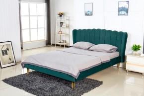 Čalouněná postel Florence 160x200, zelená, včetně roštu