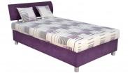 Čalouněná postel George 120x200 cm, fialová, s úložným prostorem