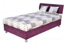 Čalouněná postel George 120x200, fialová, vč. matrace a úp