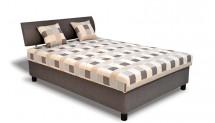 Čalouněná postel George 140x200 cm, hnědá, vč. matrace a úp