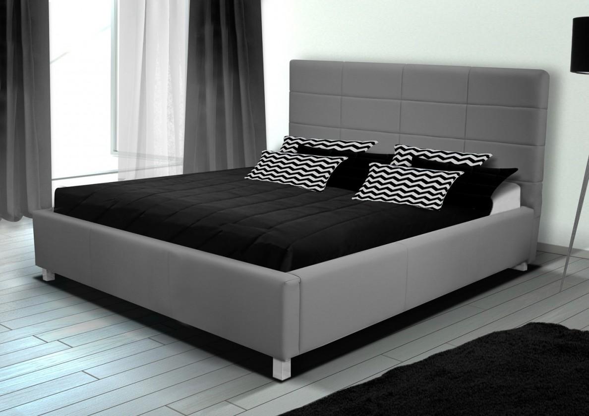 Čalouněná Postel IX - 160x200, rošt, úložný prostor (eko kůže)