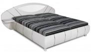 Čalouněná postel Jupiter 180x200 cm, bílá, šedá,s úložným prost.