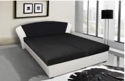 Čalouněná postel Kula 170x195 cm, černá,bílá,s úložným prostorem