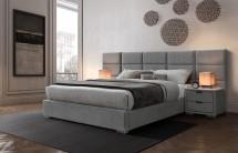 Čalouněná postel Ludvig 160x200, šedá, bez matrace a ÚP