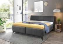 Čalouněná postel Melissa 180x200, šedá, včetně matrace a ÚP