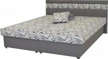Čalouněná postel Mexico 160x200, šedá, včetně úp