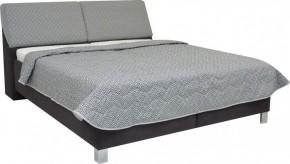 Čalouněná postel Perseus 180x200 cm, šedá, s úložným prostorem