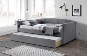 Čalouněná postel Sebastian 90x200, šedá, vč. roštu s přistýlkou