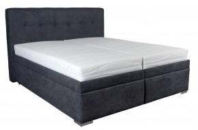 Čalouněná postel Trent 180x200 cm, šedá, s úložným prostorem