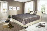 Čalouněná postel Valencia 180x200 cm, béžová,s úložným prostorem
