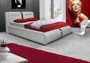 Čalouněná postel VII 160x200 cm, eko kůže