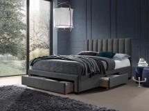 Čalouněná postel Wolfgang 160x200, šedá, včetně roštu a ÚP