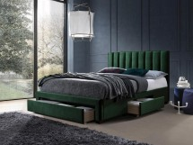 Čalouněná postel Wolfgang 160x200, zelená, včetně roštu a ÚP