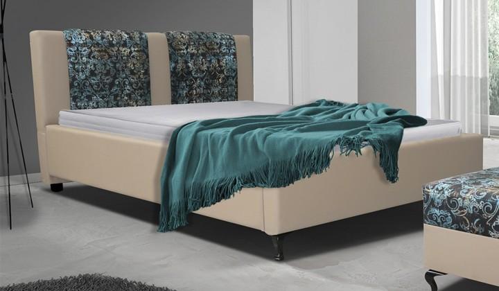 Čalouněná Postel X - 140x200 cm, rošt (madryt 112/fabric alova p2)