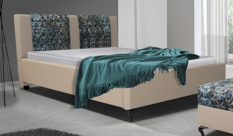Čalouněná Postel X - 160x200 cm, rošt, (madryt 112/fabric alova p2)