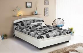 Čalouněná postel Zonda 120x200 cm,šedá,bílá, s úložným prostorem